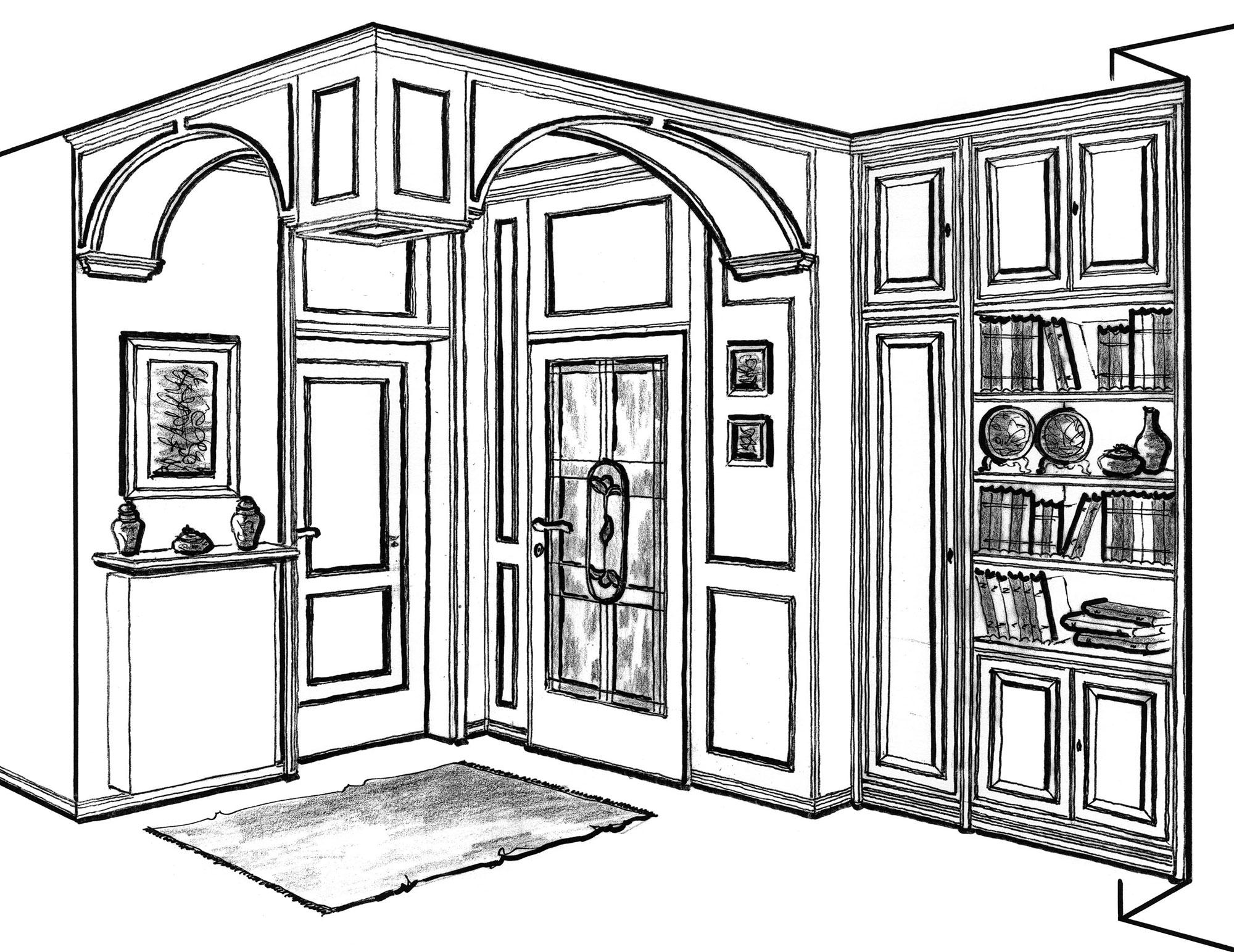 Marangoni mobili d 39 arte progetti - Mobili d arte ...